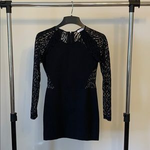 Black long sleeve dress| Parker | XS | worn once